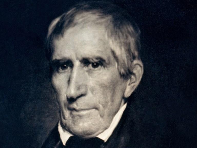 William Henry Harrison, 9e président des USA, mort un mois après sa prise de fonctions