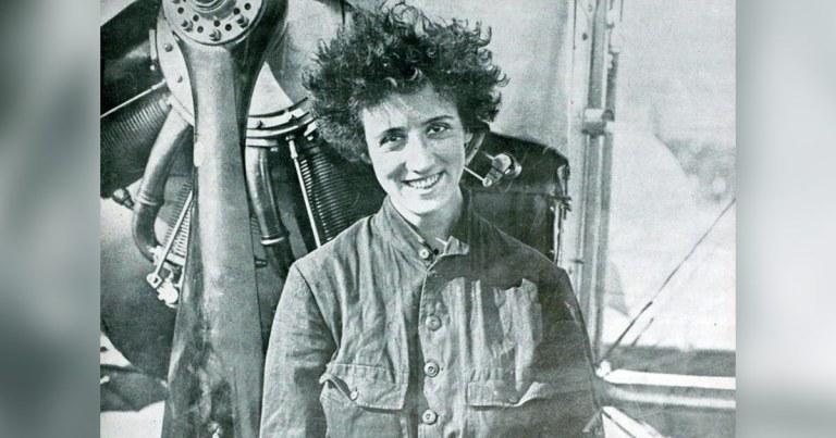 Adrienne Bolland, première femme à survoler les Andes