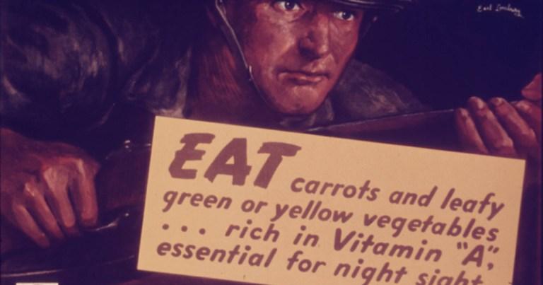 Manger des carottes est bon pour la vue ? … ou pour faire gagner les Anglais ?!