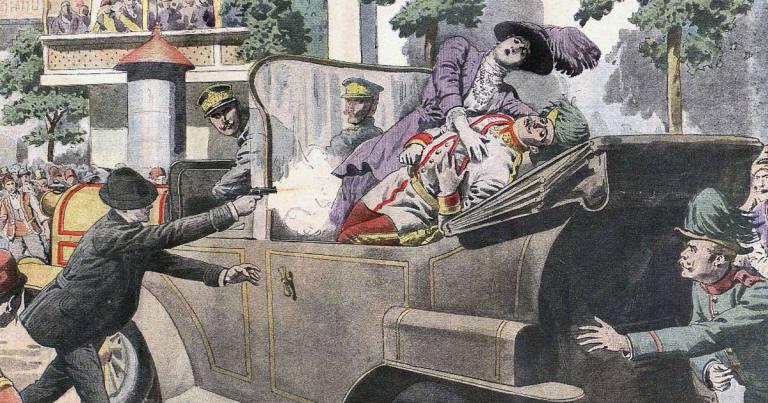 28 juin 1914 : assassinat de l'Archiduc François-Ferdinand d'Autriche, précipitant la Première Guerre mondiale