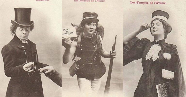 Les femmes de l'avenir (1902) : photos imaginant les femmes dans des métiers d'hommes