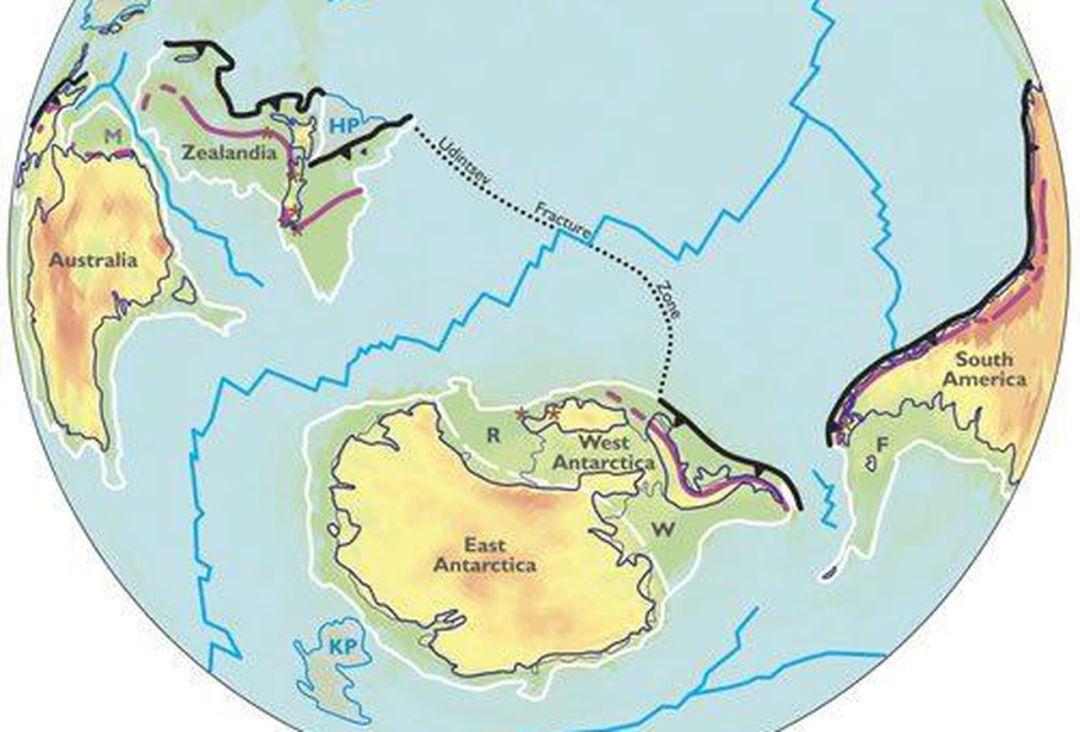 Mapa límites de Zealandia