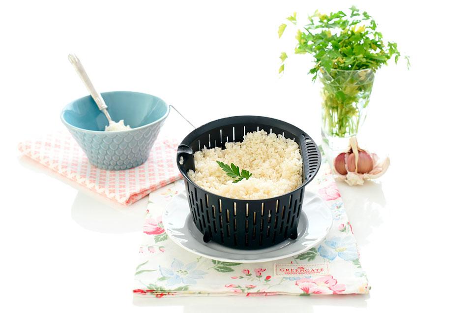 Receta de Arroz blanco vaporizado para Monsieur Cuisine