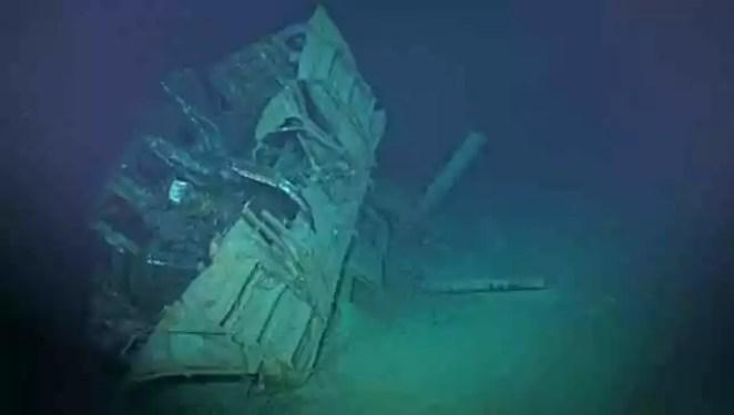naufrágio mais profundo já encontrado