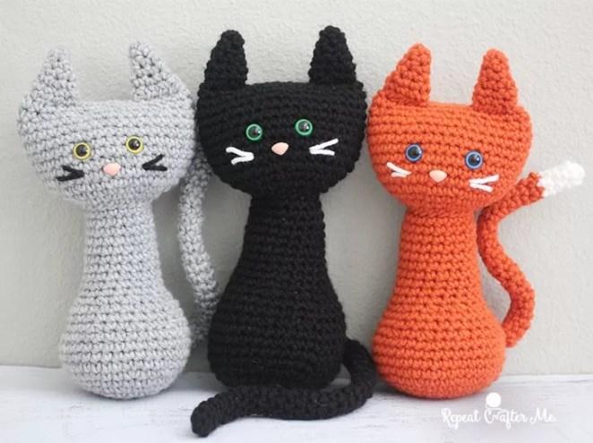 gato de crochê