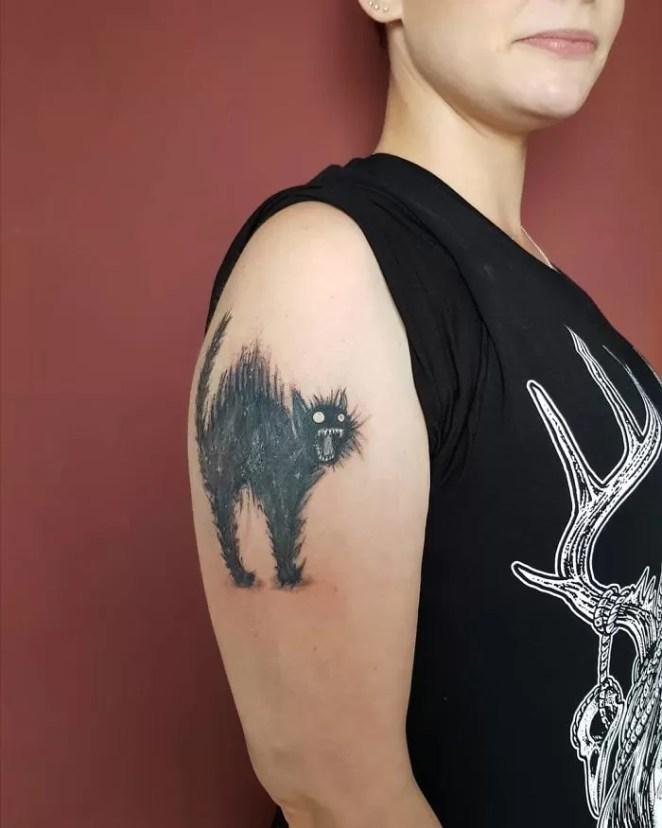 tatuagens de gatinho inspiração
