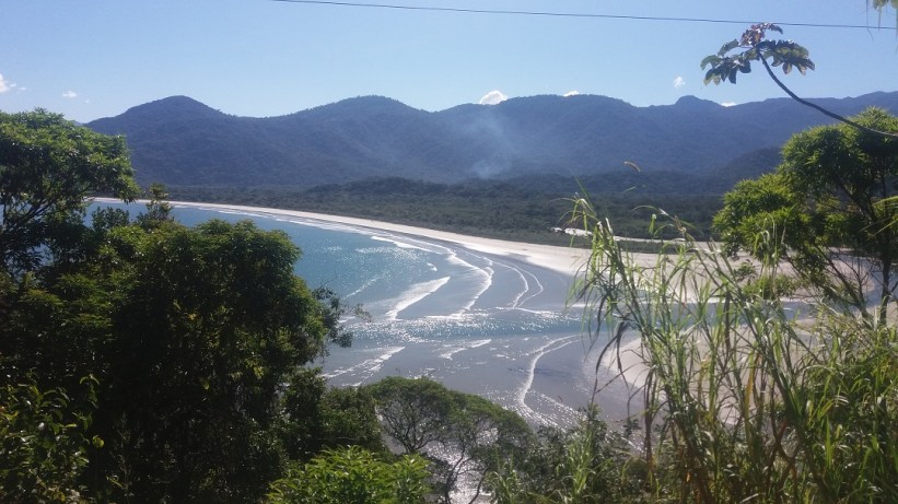 Praia da Fazenda - Vista da Estrada para Picinguaba