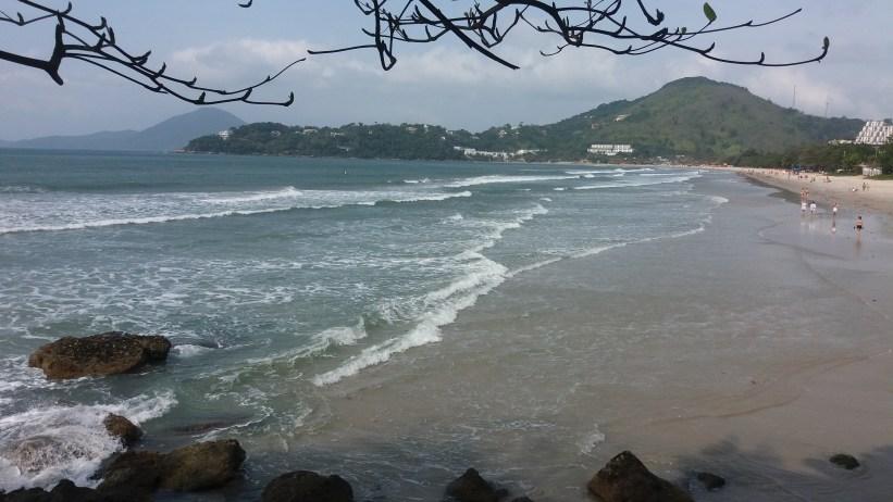 Praia das Toninhas canto esquerdo