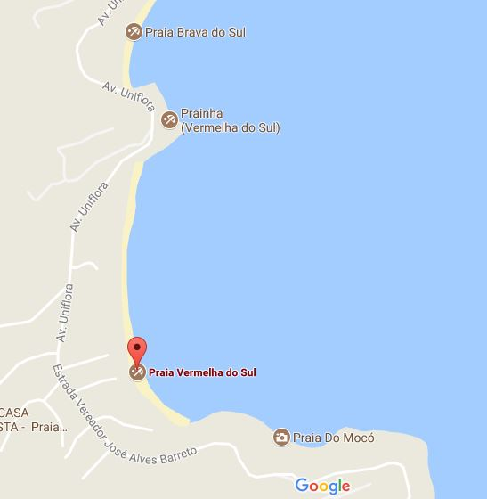 Praia do Mocó - Mapa