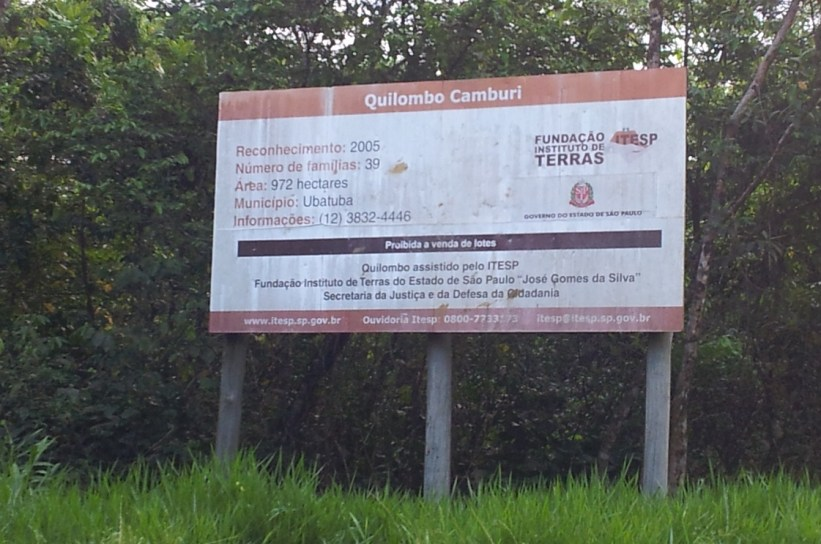 Quilombo Camburi - Placa Informativa