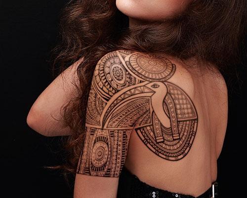 egipcio-thoth hombro tatuaje
