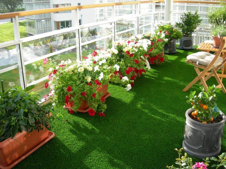 tener un jardín en una terraza