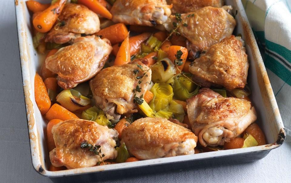 Pollo estofado con salsa de mostaza cenas ligeras y rápidas para adelgazar