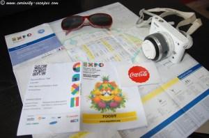 Billets en poche pour l'Expo Universelle de Milan