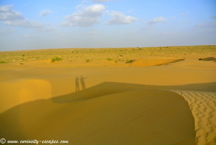 alone in Rajasthan desert