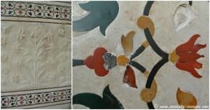 Pietra Dura au Taj Mahal