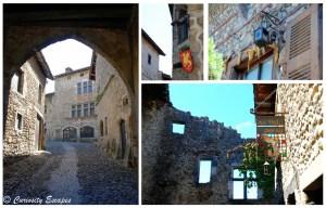 détails de façades à Pérouges