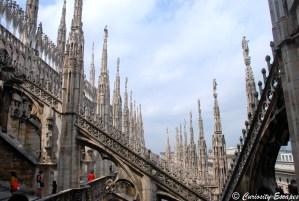 Pinacles sur le toit du Duomo