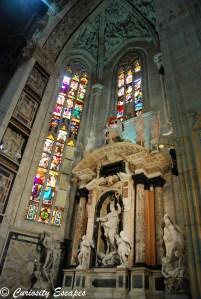 vitraux dans le Duomo de Milan