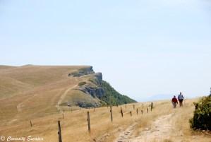 Le sommet du plateau d'Ambel