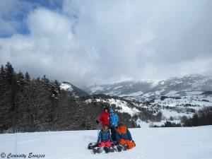 le ski entre amis