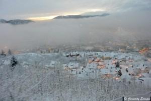 Coucher de soleil d'hiver sur Bergen