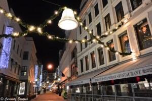 les rues d'Oslo à Noël