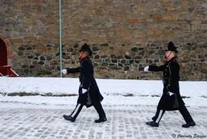 Relève de la garde à la forteresse Akershus