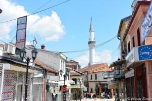 Le vieux bazar de Skopje, Macédoine