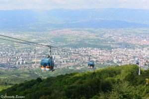 La ville de Skopje en contrebas du Mt Vodno