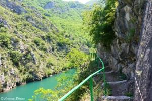 Randonnée au Canyon de Matka, Macédoine