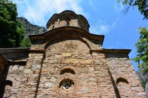 Monastère St Andrews au canyon de Matka