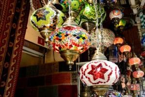 Lanternes typiques du Bazar d'Istanbul