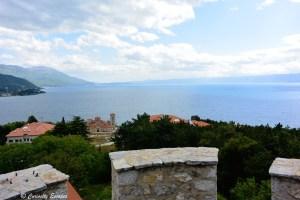 Sur les remparts de la forteresse d'Ohrid, Macédoine