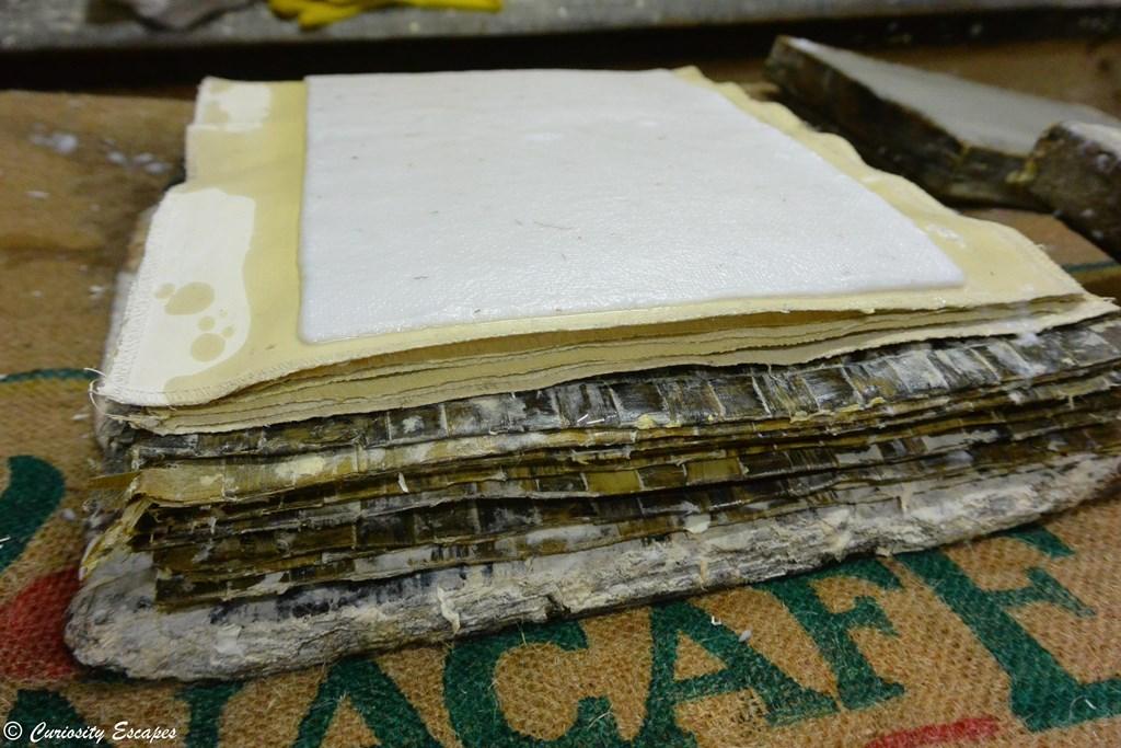Sêchage de papier fabriqué artisanalement