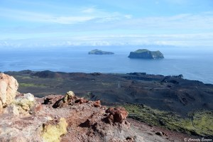 Vue au sommet du volcan Eldfell