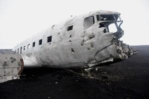 L'avion écrasé en Islande