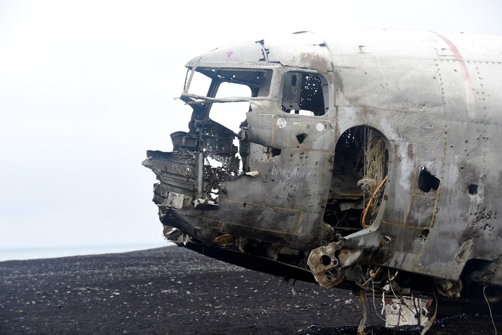 Epave de l'avion abandonné en Islande