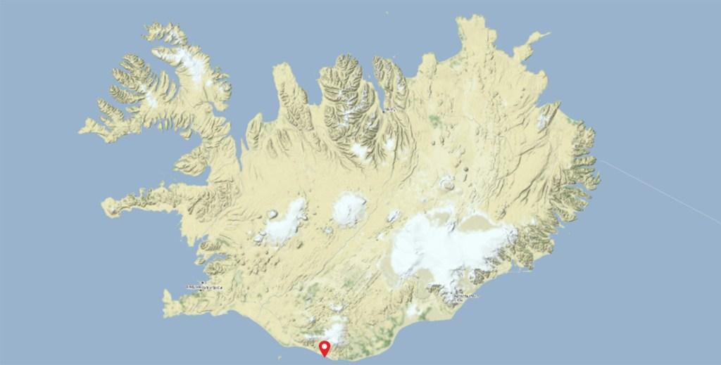 Localisation de l'avion abandonné en Islande