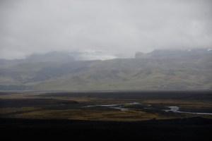 Glacier Sólheimajökull sur la rando de l'avion abandonné