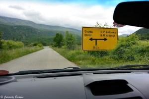 Panneaux de la route en cyrillique en Macédoine