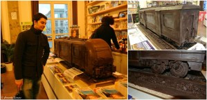Train en chocolat à Bruxelles