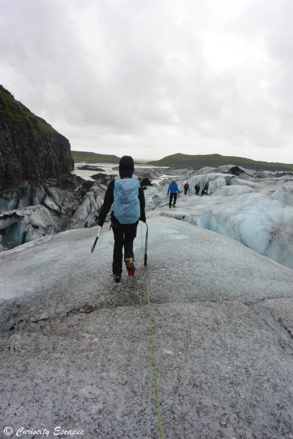 Marche sur glacier en Islande