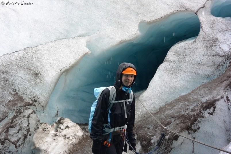 Grotte de glace sur le glacier Svinafellsjokull