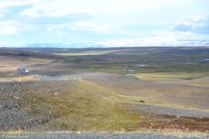 Paysage désertique dans le nord de l'Islande