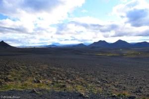 Pseudo-cratères dans le nord de l'Islande