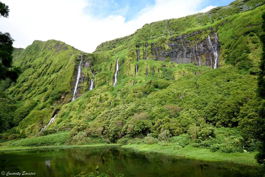 Poço da Ribeira do Ferreiro, cascades sur Flores