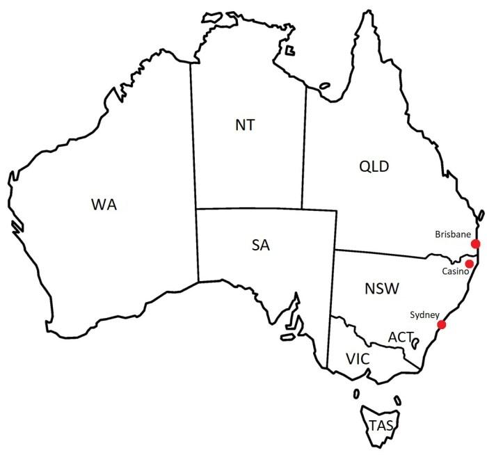 Ville de Casino en Australie