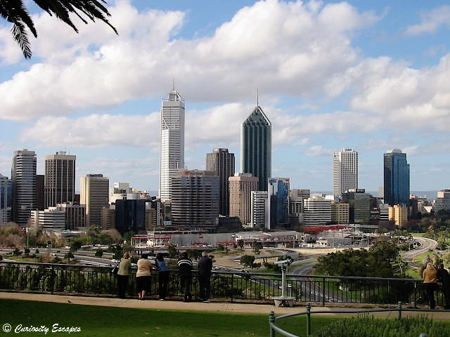 Centre-ville de Perth en Australie Occidentale