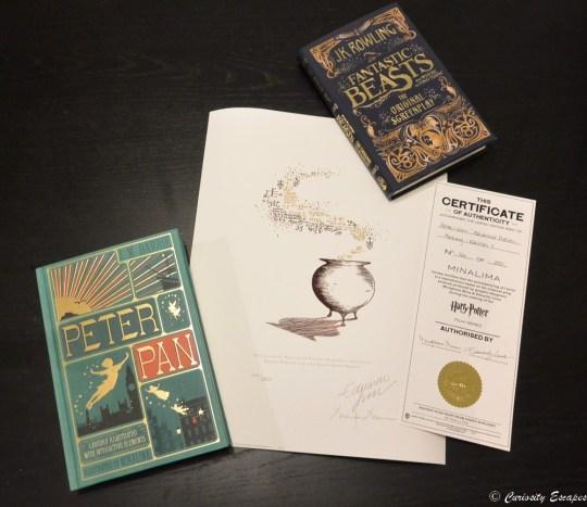 Souvenirs Harry Potter achetés chez MinaLima